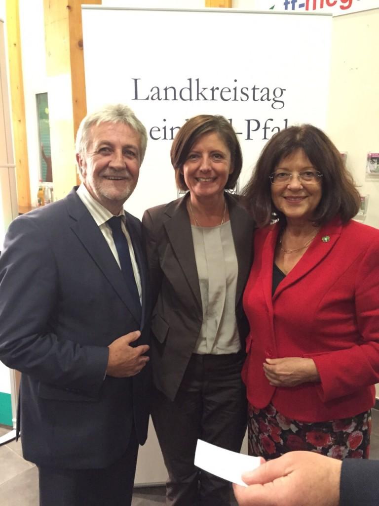 Malu Dreyer, Theresia Riedmaier und Hermann Bohrer